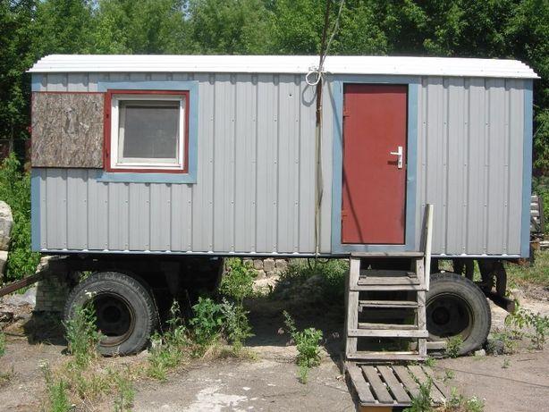Вагончик бытовка прицеп на колесах 2,55х5,55м строительный передвижной