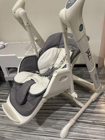 Стул-качели 3 в 1 Mioobaby Jazz Grey детсктй стульчик для кормления