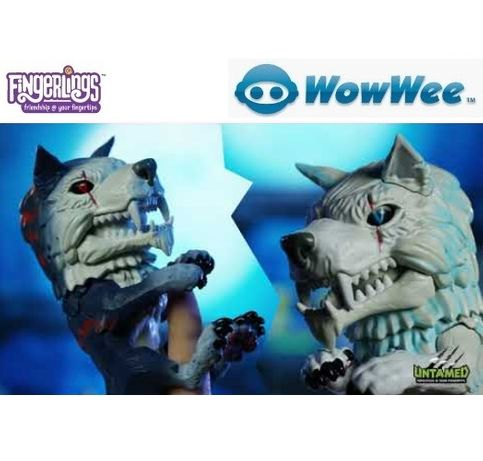 Untamed Dire Wolf Fingerlings WowWee Фінгерлінгс Фингерлингс Вовк Волк