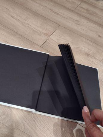 Księga gości ślub czarne kartki wesele kwadratowa