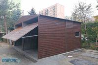 Garaż blaszany 6x5 PODWYŻSZONY garaże blaszaki drewnopodobne z profila