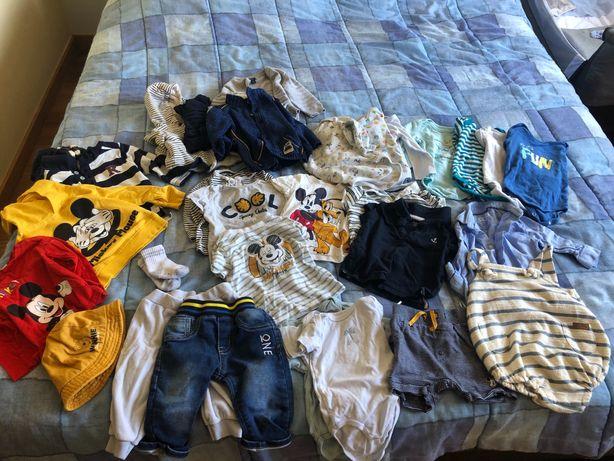 30 peças de Roupa Bebé Menino 6 meses