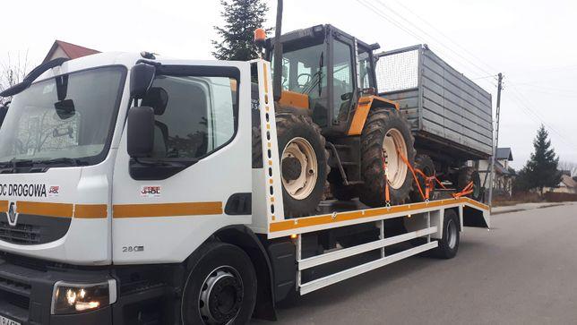 Transport ciągników, maszyn rolniczych, traktorów laweta, ład. 10 ton