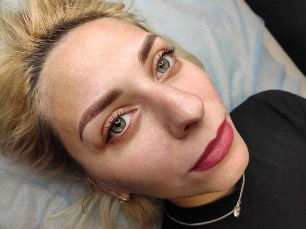 Перманентный макияж губы, брови, глаза (межресничка)!
