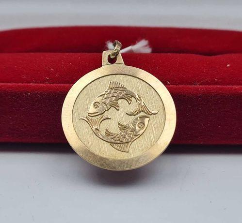 Złota Zawieszka Ryby znak zodiaku 1,80g p333 Lombard66