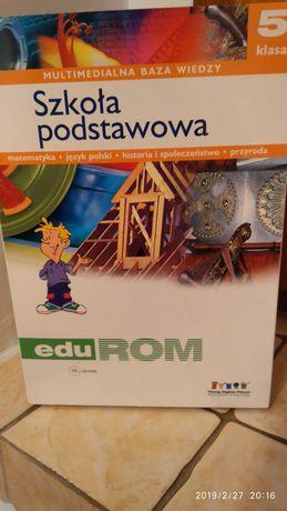 edu rom multimedialna baza wiedzy kl.5 brakuje płytki z j.polskiego