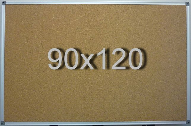 Пробковая доска 90х120 см