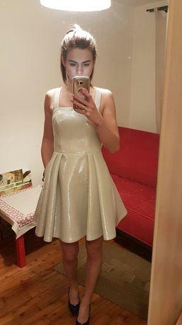 Srebrna błyszcząca sukienka Emo S