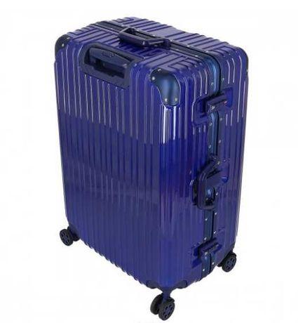 "Luksusowa walizka, duża 28"" aluminium + PC niebieska"