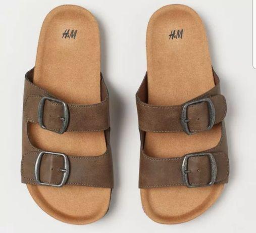H&M * Super klapki skórzane camel HIT lata 2020 j. NOWE modne r. 35
