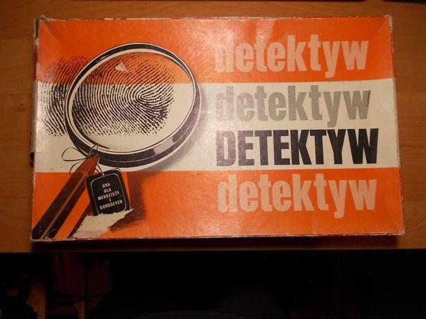 Gra planszowa Detektyw polskie CLUEDO - lata 80 PRL unikat !!!