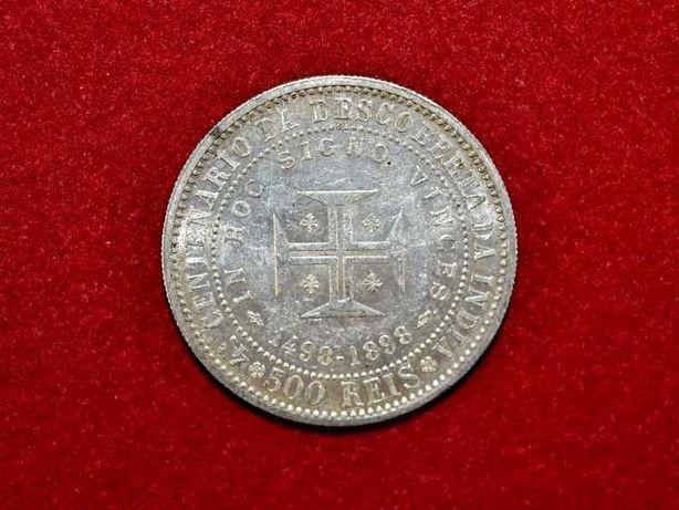 Moeda de 500 réis em prata 916,6% datada de 1898