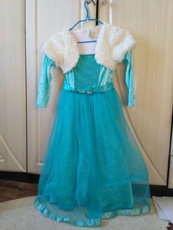 Платье зима снежинка весна FROZEN