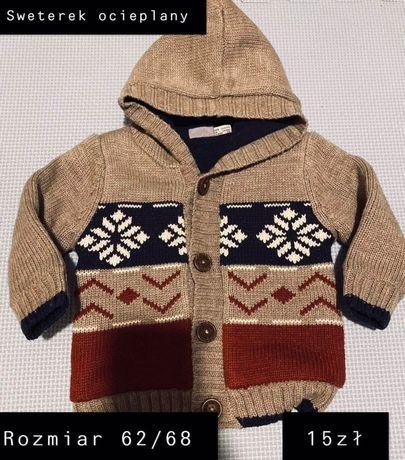 Sweterek ocieplany rozmiar 62/68