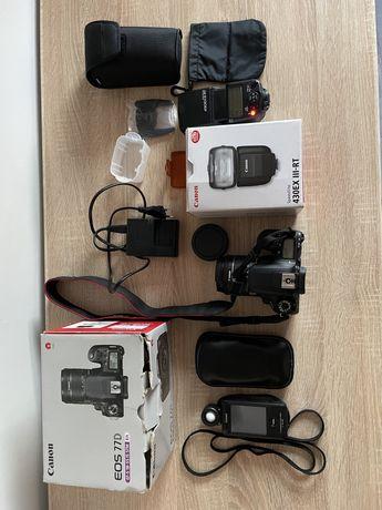 ZESTAW Canon EOS 77D + EF-S 18-55 + Lampa Błyskowa + Sekonic L-478D