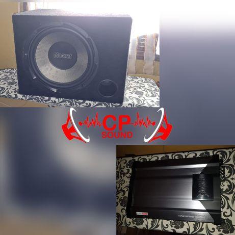 Subwoofer MAGNAT + Amplificador para Som Carro Jipe Etc