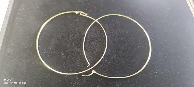 Duże złote okrągłe KOLCZYKI PR 585