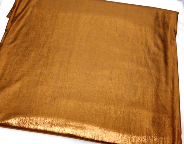 Ткань стрейч коричневатый золотистый бронзовый на платье костюм блузку