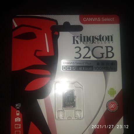 Продам microSD флэш карту Kingston 32GB