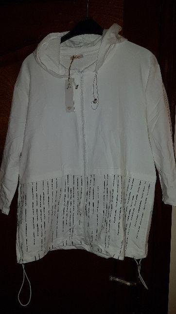 Bluza damska z kapturem MEGI 120 biust Ecru NOWA z metką