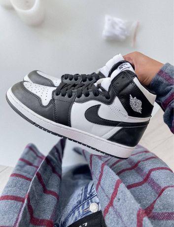 Кроссовки Nike Air Jordan 1 Black White / Найк Аир Джордан 1