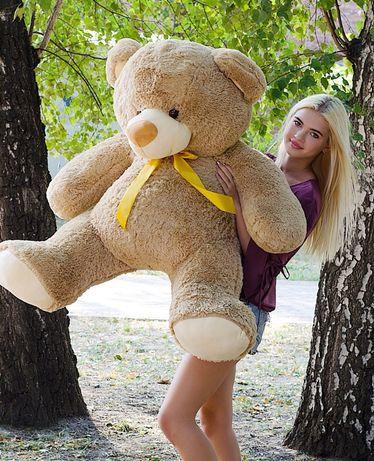 Мишка большой мягкий огромный плюшевый ведмедь на подарок девушке