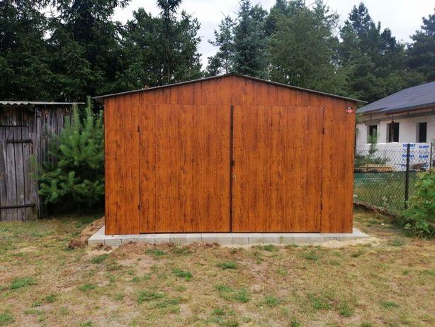 Garaż blaszany drewnopodobny 4x5 Producent