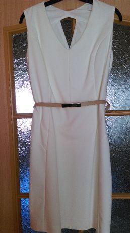 Biała elegancka sukienka Reserved L