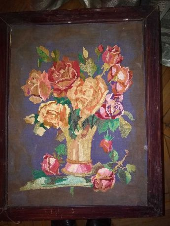 Картина ручной работы В деревянной рамке .