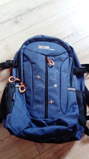 Plecak nowy, dwukomorowy, górski, szkolny duży