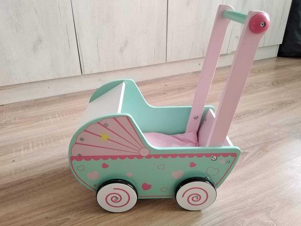 Drewniany wózek dla lalki Mini Matters