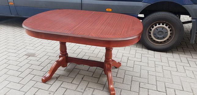 Solidny stół rozkładany owalny