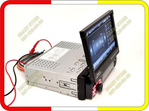 Автомагнитола 7130, 1DIN, BT, выдвижной экран 7 дюймов, пульт на руль