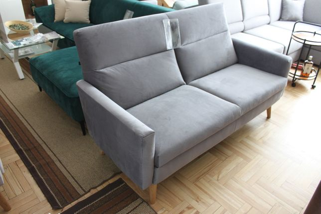 Modna sofa szara KINGA w obniżonej cenie dostępna od ręki