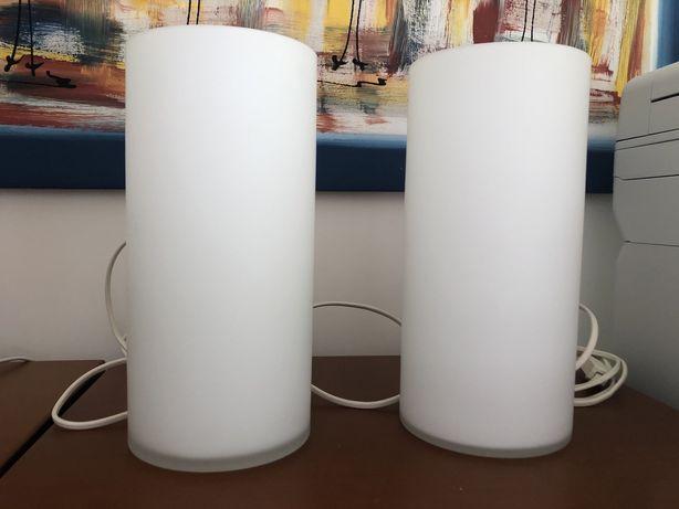 2 candeeiros de vidro fosco novos