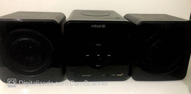 Aparelhagem MITSAI, como nova, CD/rádio/MP3
