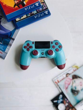 Dualshock 4 V2. Голубая Карамель. Джойстик на PS4.