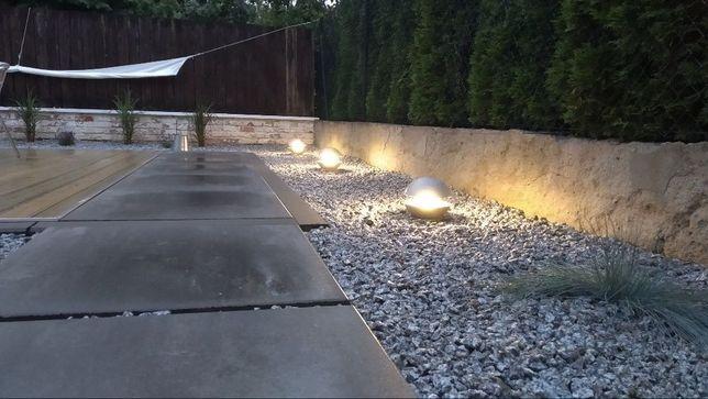 Lampa ogrodowa kula beton architektoniczny handmade industrial60