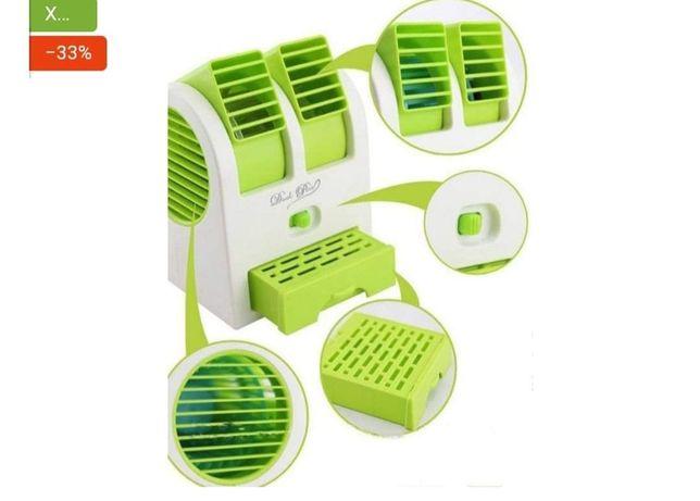 Настольный мини кондиционер Conditioning Air Cooler USB салатовый 90 г