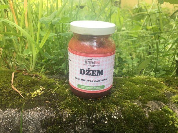 Dżem truskawkowo-rabarbarowy - domowe przetwory