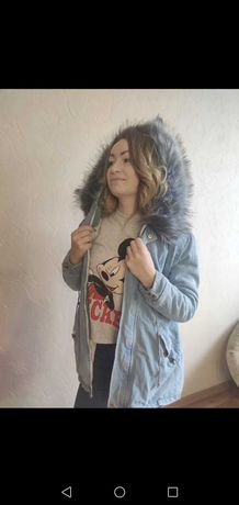 Куртка зимняя размер М женская