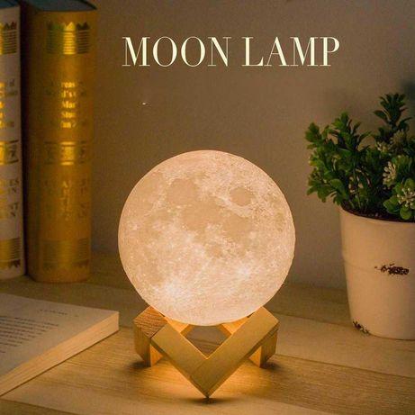 Lâmpada de lua 3D várias cores | led luz noturna candeeiro