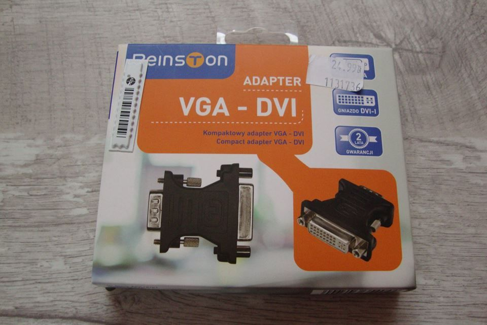 Kompaktowy Adapter VGA-DVI Nowy