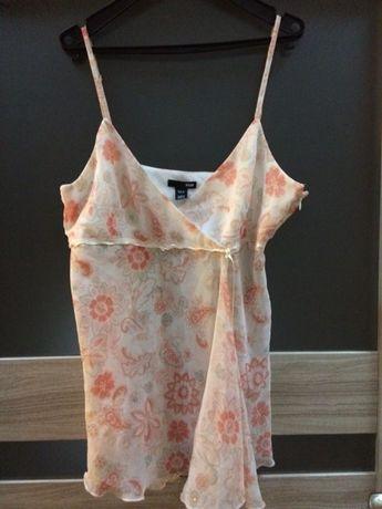 Piękna delikatna bluzka H & M eur 42 szyfon