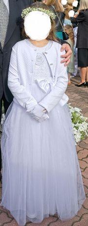 Suknia komunijna z dodatkami