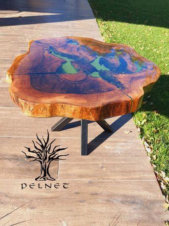 Stolik z żywicy epoksydowej stolik kawowy stolik drewniany