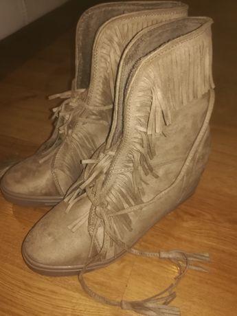 Sneakersy zamsz boho 39 40
