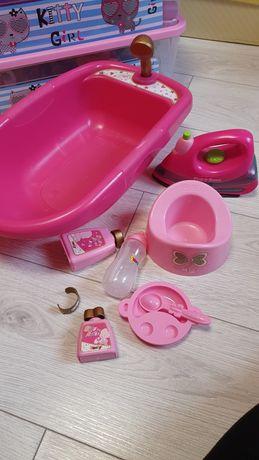 Набор для ухода за куклой Smoby (ванночка,горшок,утюг)