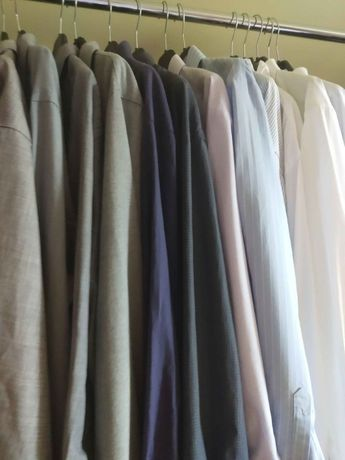 Koszule firmowe męskie komplet 13 sztuk