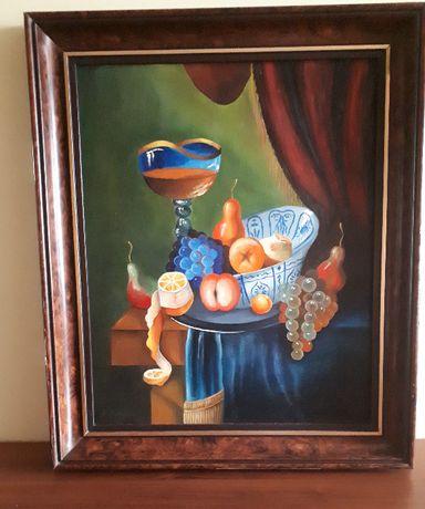 Piękny obraz olejny ręcznie malowany na podobraziu płóciennym